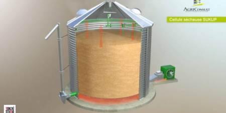 Agriconsult : Animation 3D du mode de fonctionnement d'une cellule sécheuse