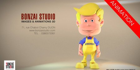 Sobomat : Making-of. Création & animation de mascotte 3D