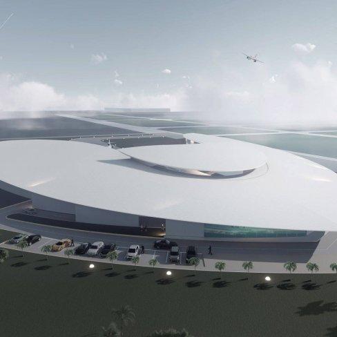 Architecture 3D : d'après projet Embassair J. Rougerie