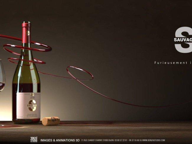design, modélisation, rendu: publicité de promotion de Bonzai Studio & La Griffe Dijon