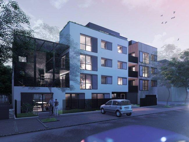 Perspective architecture : vue de nuit, promotion immobilère DIJON