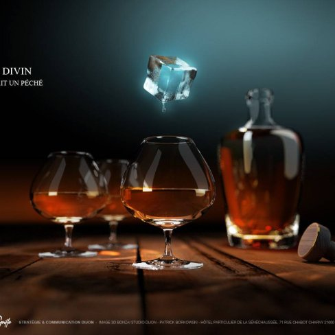 Reyon : Image 3D de spiritueux